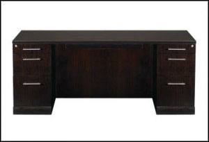 Mayline Furniture Sorrento Double Pedestal Desk