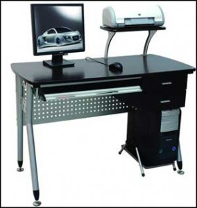 Office Black Modern Computer Desk