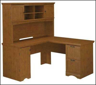 bush small corner computer desk with hutch