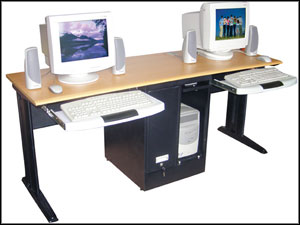 classroom two person computer desk
