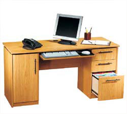 Free Computer Desks Plans at WoodworkersWorkshop.com