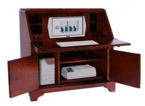 portable wooden small computer desk