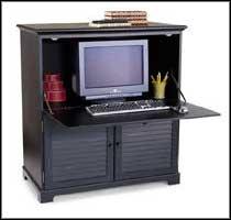 stylish black computer armoire