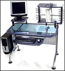 stylish glass top computer desk