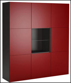 best red bookshelf ikea office furniture