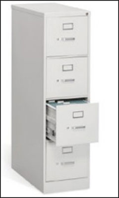 digimarc white 4 drawer steel filing cabinet
