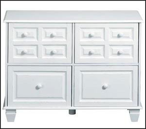 double white file cabinet
