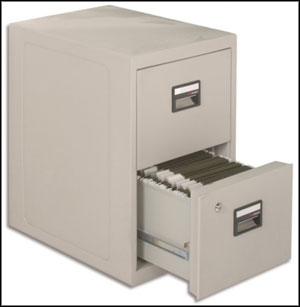 endurance 2 drawer filing cabinet grey