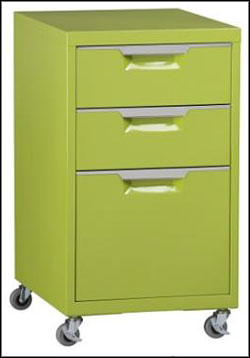 green filing cabinets for home with wheels