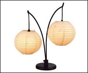 Adesso Double Spheres Antique Table Lamps Bronze