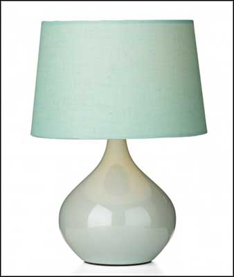 ava blue ceramic pottery table lamps