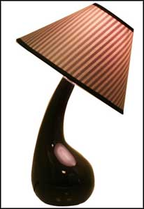 brown contemporary ceramic table lamps