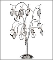 elegant chrome crystal table lamps