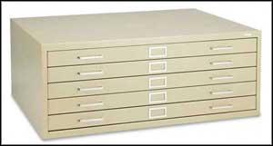 safco flat file cabinets metal