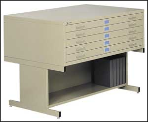 safco flat file storage with high base