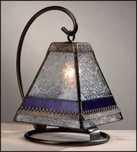 stained glass table lantern