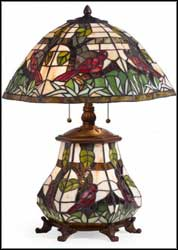 tiffany colored glass table lamps