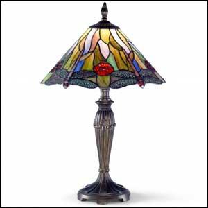 tiffany crystal buffet lamps