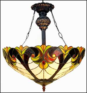 tiffany hanging swag lamps
