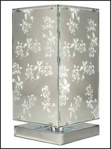 touch table lamps flower pattern