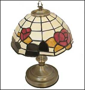 vintage tiffany lamps dimmed
