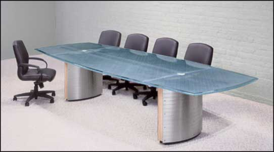 glass used conference tables