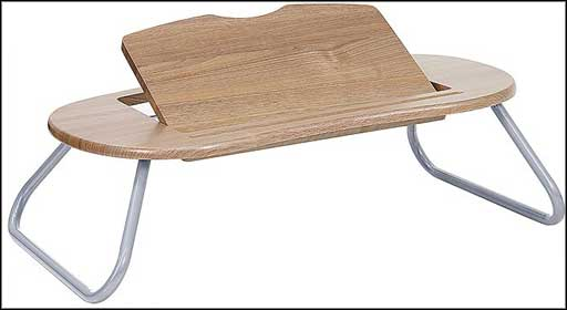 adjustable wooden laptop computer table