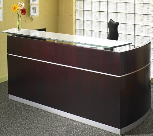 Napoli Reception Desk Counter Transaction on Floating Glass