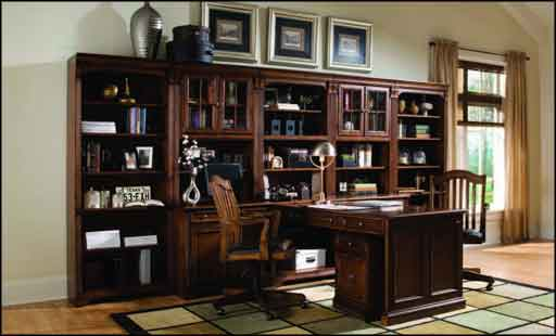 antique elegant work desk with hutch