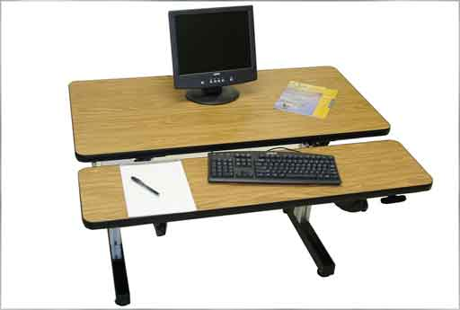 double surface wooden ergonomic computer desk