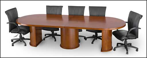 insignia used conference tables solid drum base