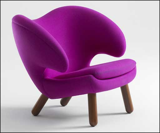 purple comfortable modern chairs simple design
