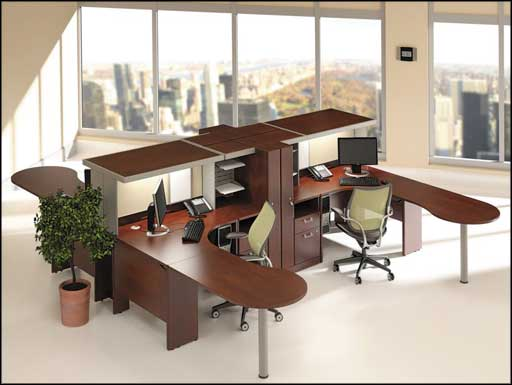 bush classic wooden office furniture sets