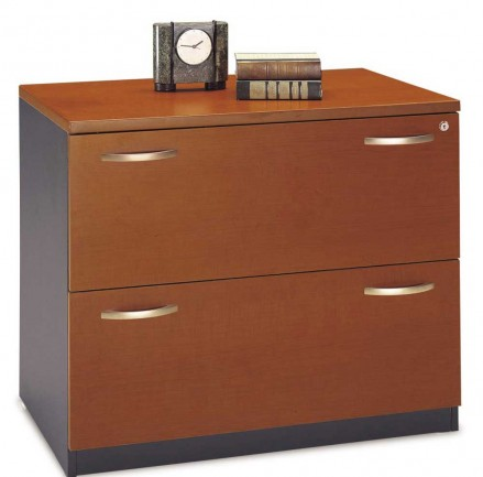 2 drawers lateral wooden file cabinets
