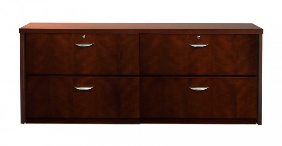 4 drawer office wood lateral filing cabinet