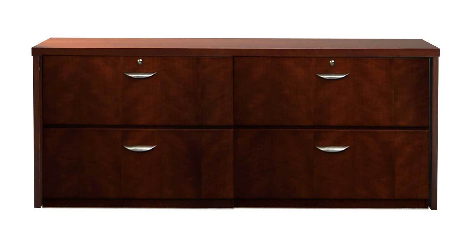 Beautiful 10700 Series 4 Drawer Lateral Wood File Cabinet  HON107699
