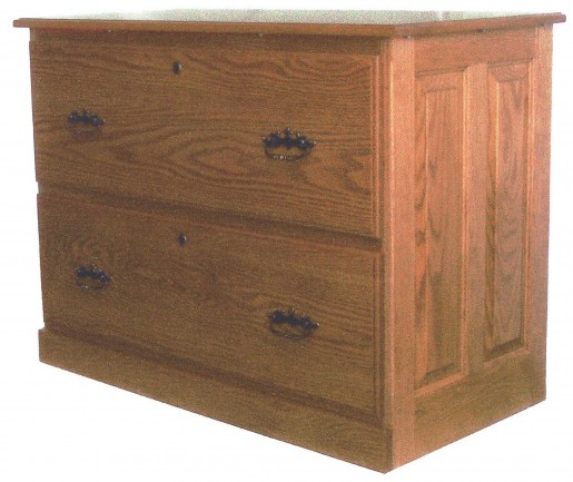Amish 2 Drawer Wooden Lateral File Cabinets