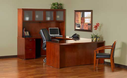 Discount Office Furniture Mayline Mira Bow Front Desk