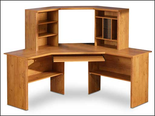 High Quality Solid Pine Computer Desk with Hutch