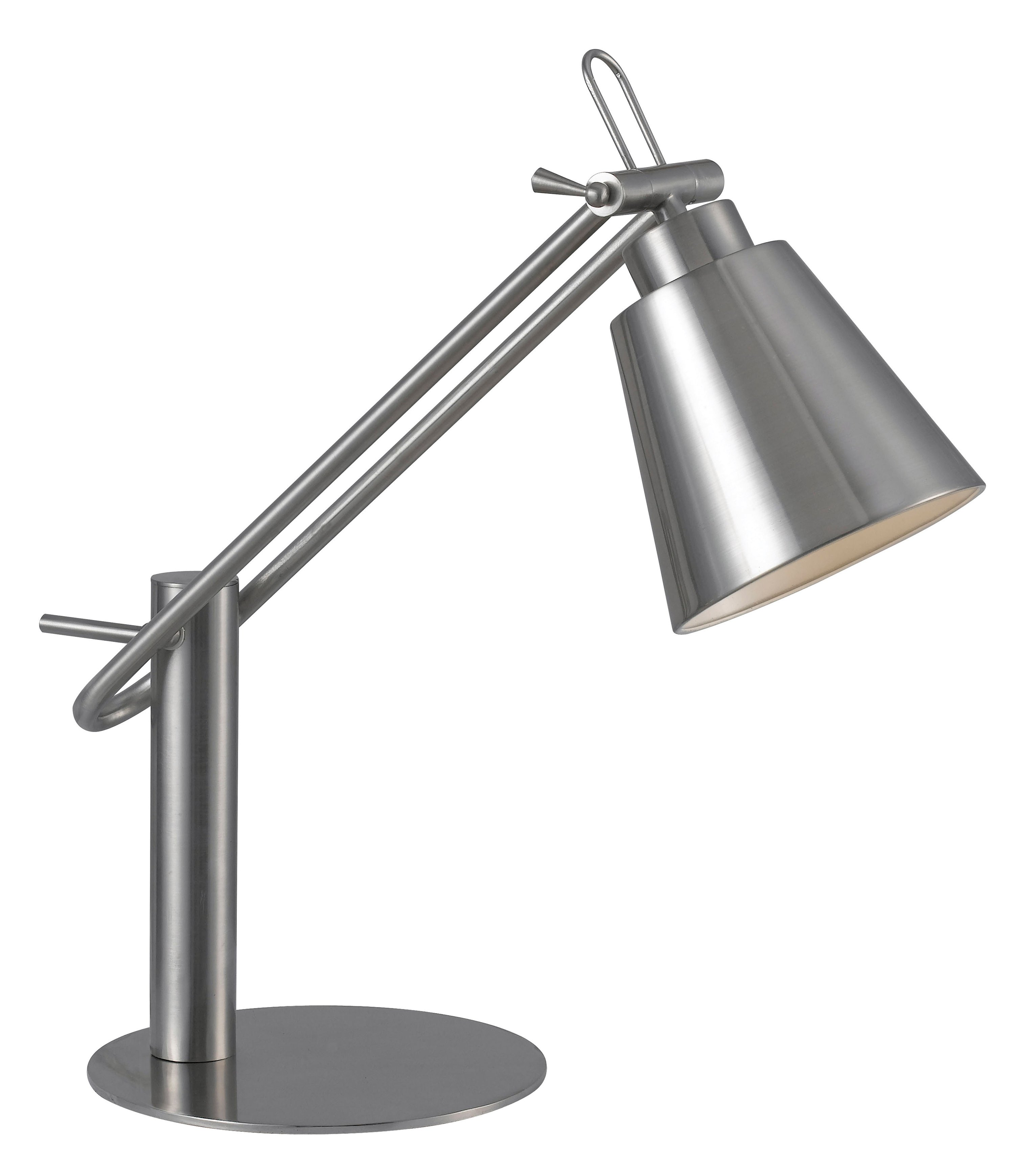 adjustable black halogen desk lamp
