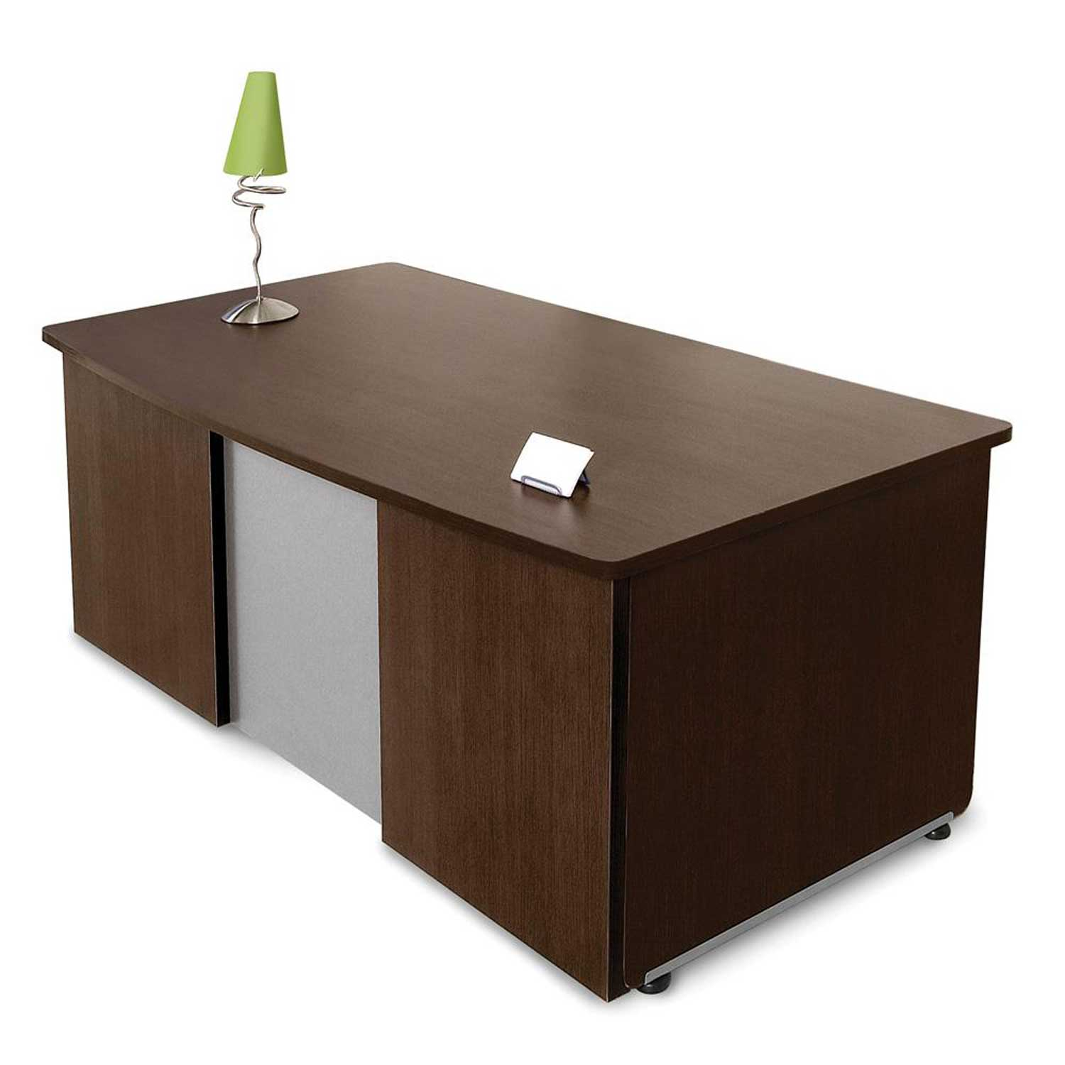 executive wooden desk on office furniture