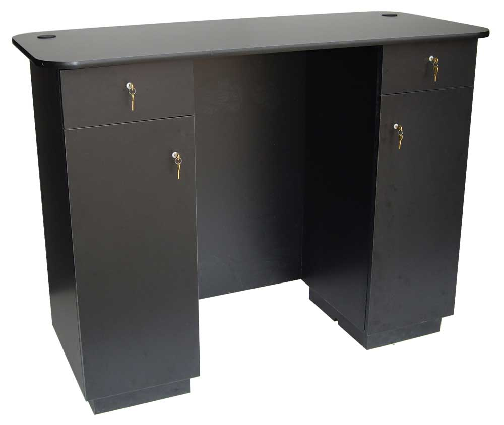 Black Coating Reception Desk