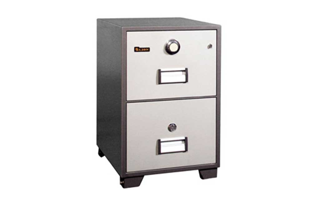 Fire Proof Filing Cabinet with 2 Drawers