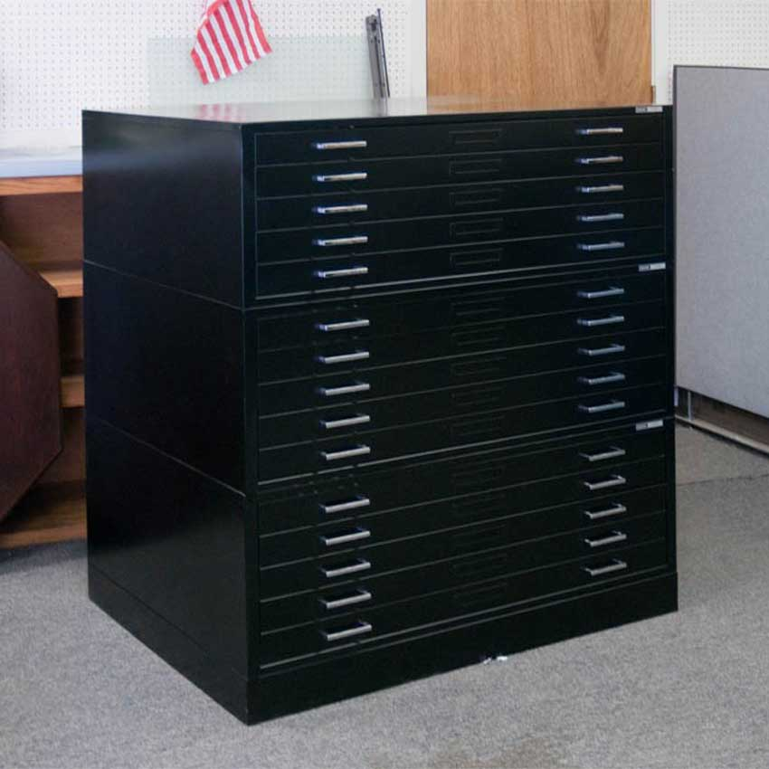 Mayline E-Size Metal Plan Used File Cabinets