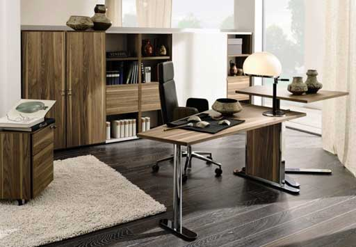 Modern Home Office Desk Design Concept