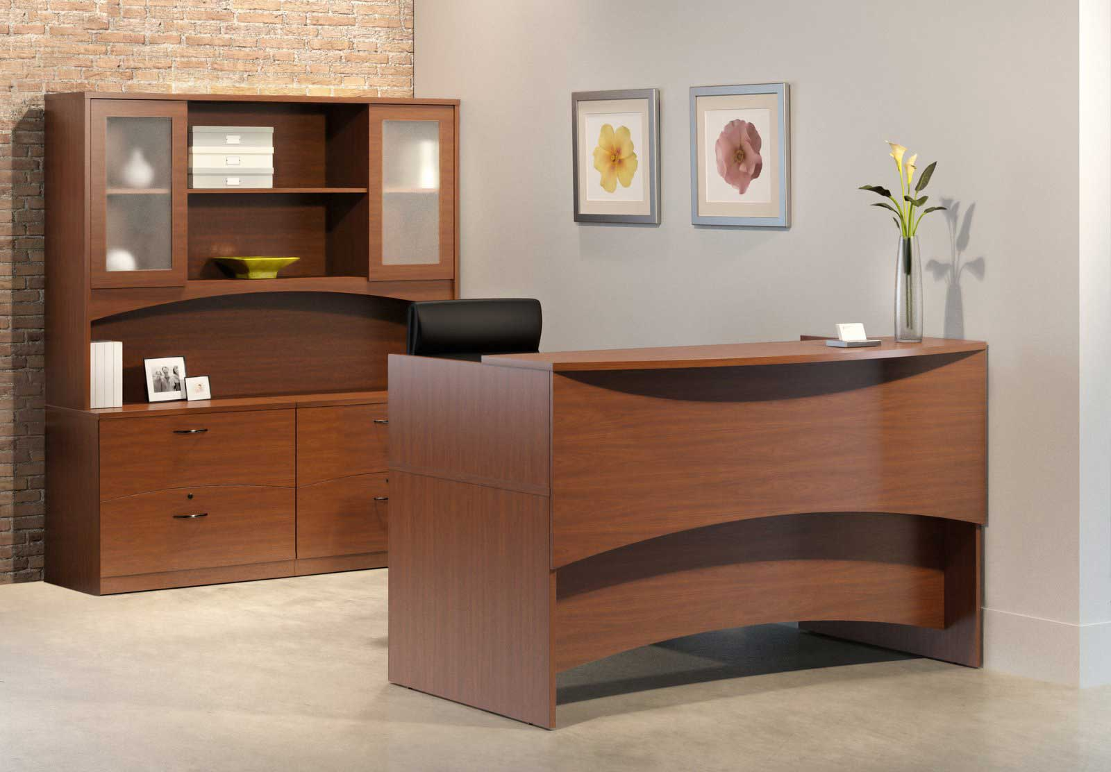 modern reception counter desks in half round Modern Reception Desks