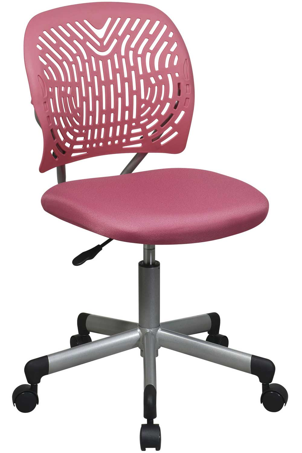 Office Star Modern Armless Kids Pink Task Chair