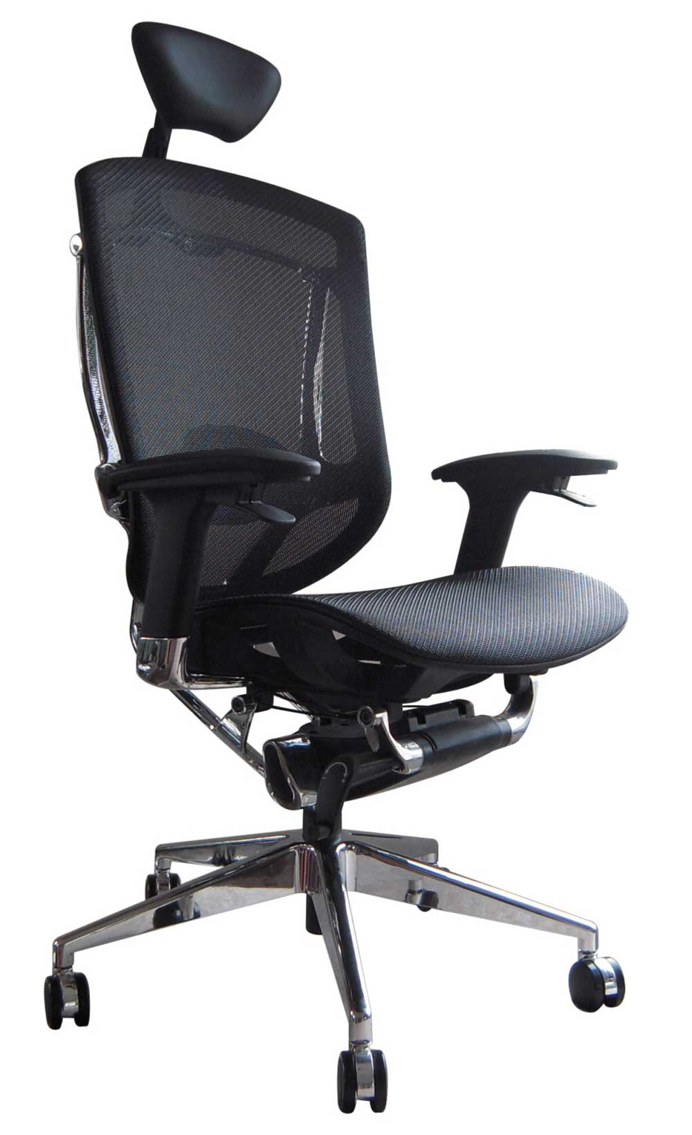 adjustable black ergonomic computer chair