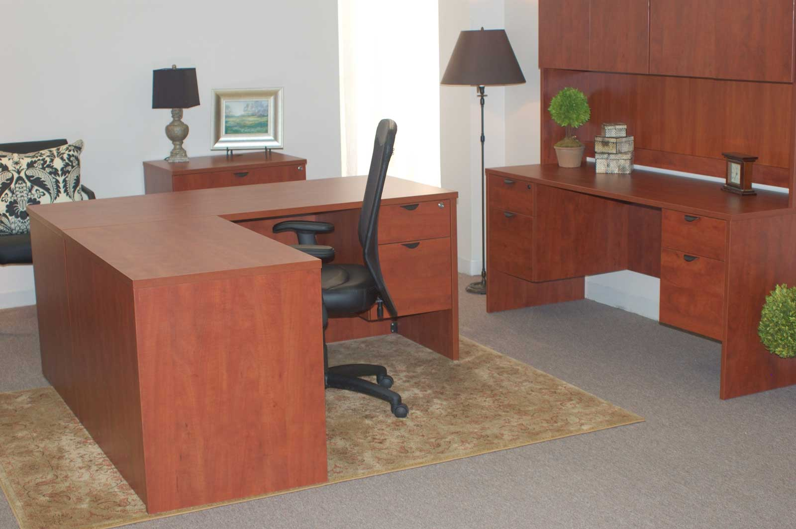 affordable home office desk placement