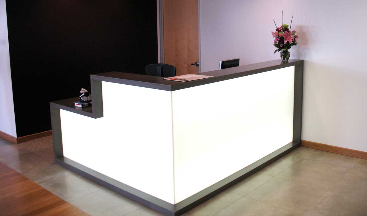 L shaped receptionist desk office furniture for Reception furniture